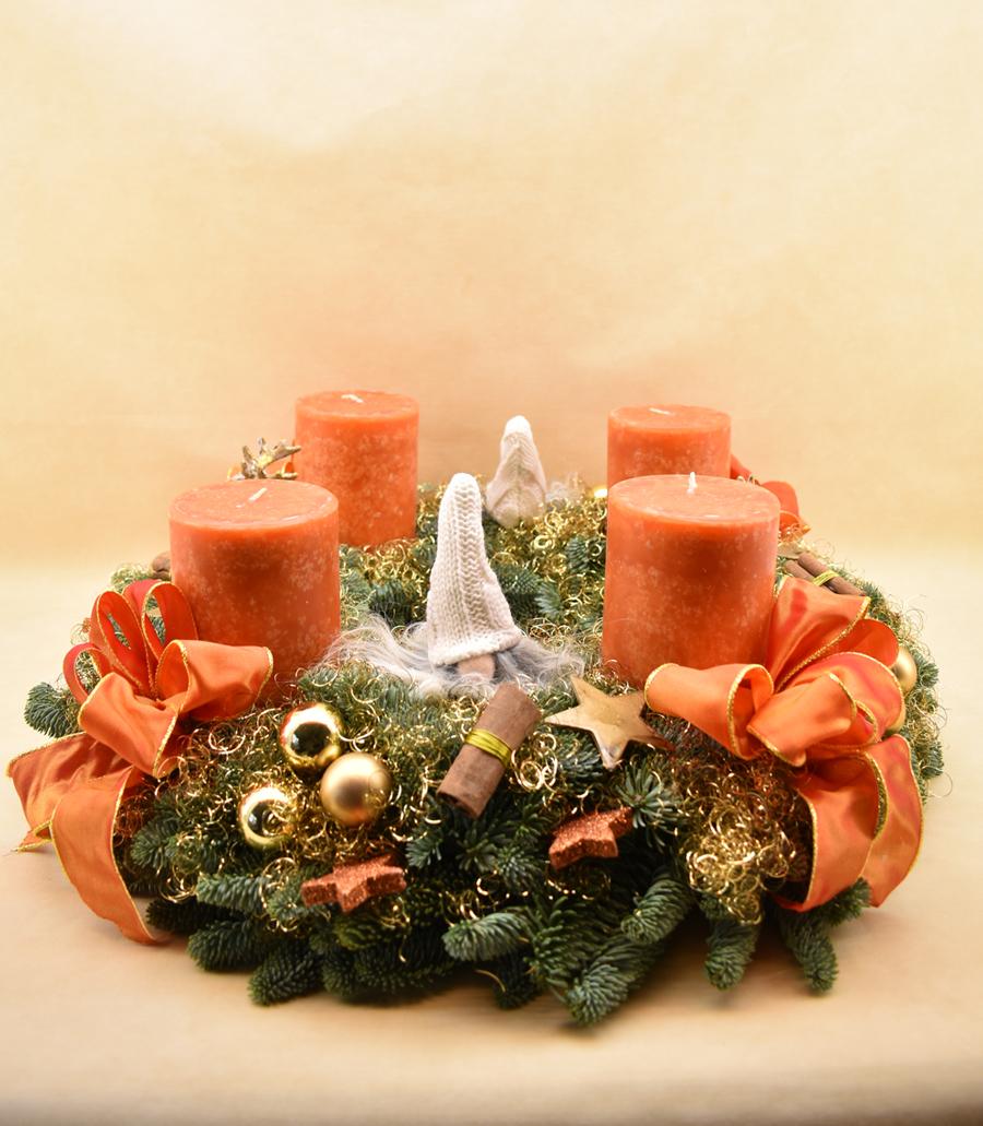 Adventskranz, orange, Nr. 31